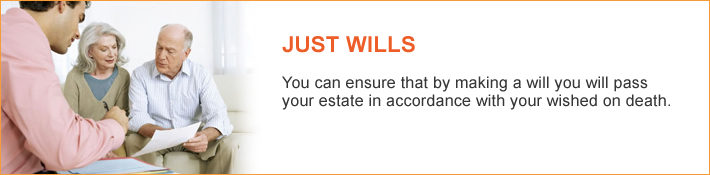 Just Wills - You can ensure that by making a will you will pass your estate in accordance with your wished on death. Just Legal Group